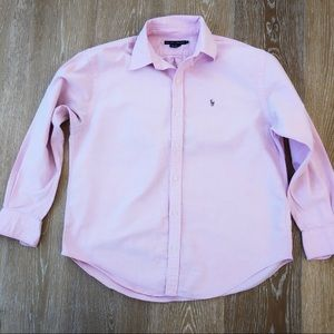 Ralph Lauren pink classic Oxford in size 12